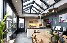 Rear Extension, Lean To, Garden Lamps, Sims House, Bungalow, Sweet Home, Patio, Interior Design, Architecture