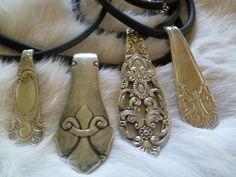 Smykke lagd av skjeskaft. One og a kind smykke Facebook.com/ByJaneM/ www.epla.no/shops/byjanem/