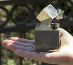 Pyrite Cube Cluster with 3 Perfect Cubes from La Rioja, Spain - HUGE Base cube!