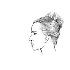 how to draw a female face looking down