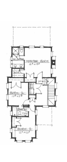 Allison Ramsey Architects | Floorplan for Laurel Knob - 1821 sqaure foot house plan # NC0011