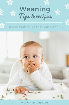 Get ready to wean your baby...Spoon-feeding or Baby-Led Weaning? Read more for tips and ideas on how to get started. #weaning #babyledweaning #baby #weaningtips #weaningrecipes