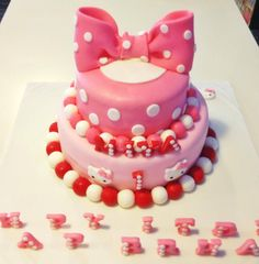 Hello Kitty Themed Cake Themed Cakes, Nom Nom, Hello Kitty, Bakery, Birthday Cake, Desserts, Food, Theme Cakes, Tailgate Desserts