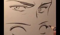 How to Draw Manga Eyes - Male Vs Female - Video Lessons of Drawing Painting