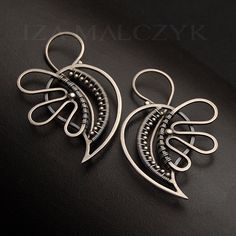 Funky Blossom Paisley earrings - silver, metalwork, wire-wrapping…