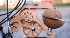 Meet Trotify, the all-wooden system and mechanism that you put on your bike, along with a coconut, to make it sound like a horse clopping down the road when you ride your bike around.