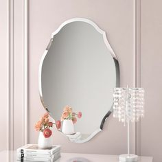 Willa Arlo Interiors Egor Accent Mirror Size: H x W Frameless Mirror, Beveled Mirror, Beveled Glass, Mirror Vinyl, Wall Mounted Mirror, Wall Mirrors, Vanity Mirrors, Vanity Set, Vanity Ideas