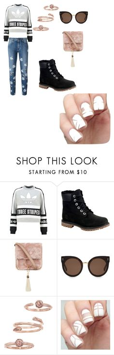 """""""Mixed Print"""" by elsie-jones ❤ liked on Polyvore featuring adidas Originals, Timberland, Brother Vellies, STELLA McCARTNEY and Kendra Scott"""