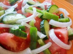 Standard Croatian Mixed Salad. his is usual mixed summer salad you can get almost in every Croatian household or restaurant. The importance is in wine vinegar (not aceto balsamico)
