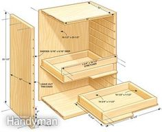 Simple tool storage...because let's face it metal tool boxes and storage cabinets are extremely overpriced