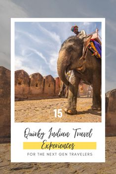 Often when you are planning your holiday in India, the first thing that you want to check off your travel bucket list is visiting one of the Seven Wonders of the World: Taj Mahal. But what next? Everybody wants to make the most out of their trips and would like to experience a place from a local's point of view. That's why I have compiled this list of some quirky Indian travel experiences that I highly recommend to be on your India travel bucket list!  #exploreindia Go Glamping, See You Around, Air Balloon Rides, Virtual Travel, Desert Life, Seven Wonders, India Travel, Heritage Site, Continents