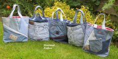 Jeans - Upcycling : Shopper - www.quiltfriend.de