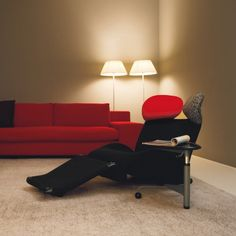 Wink Black Red Relaxer Chair