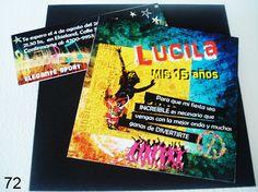 Invitación para Cumple de 15 años  personalizada con sobre diseñado  tarjeta personal y cierre sobre.