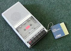 Vintage 1981 Sears 572165 Solid State Cassette Recorder - New With Tag