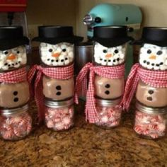 Snowman hot coco...with spearmint.