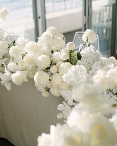 All White Wedding, White Wedding Flowers, Bridal Flowers, White Flowers, Floral Wedding, Bridal Table, Wedding Table, Wedding Day, Floral Centerpieces