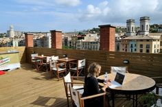 Equity Point Girona in Girona, Spain - simple room, but the roof terrace! Hostels, Interiores Design, Cool, New Zealand, Thailand, This Is Us, England, Europe, Australia