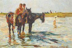 Bathe (Horses in the River), 1923 - Rudolf Schweitzer-Cumpana