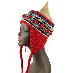 Grunge Style, Ethnic Inspired, FreeStyle Ear-Flap Hat UNISEX, HAT_6020 #Handmade #Ski #Casual