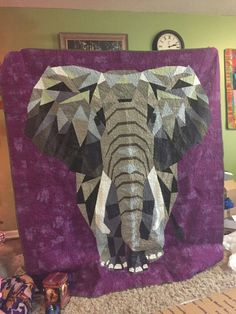My version of Violet craft elephant abstractions.