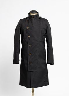 DOUBLE BREASTED RAINCOAT MIXED BLACK