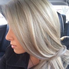 champagne blonde. looks alot like taylor swifts hair color