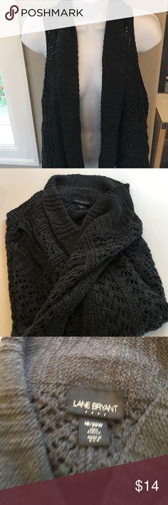 Lane Bryant cardigan Sleeveless with open front. Size 18/20 Lane Bryant Sweaters Cardigans