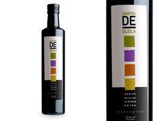 Campos de Uleila; Aceite de Oliva Virgen Extra ecológico;  Etiqueta para vidrio 500 ml