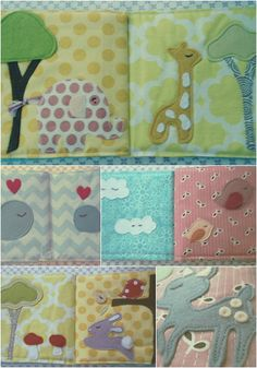 An adorable fabric book for a babies and toddlers. A very precious gift that will make a wonderful keepsake for years to come!!! Would also make a wonderful christening present. Each fabric book has 10 pages in total (covers included). It is made from quality quilting cotton, wool felt, and