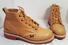 NEW THORGOOD X AEO TAN CLASSIC LEATHER BOOTS MENS US 7 MSRP $179.00 #Thorogood #WorkSafety