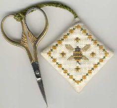 'Bee Keeper' Scissor fob from The Drawn Thread.
