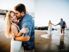 Couple Beach Photos, Beach Engagement Photos, Beach Pictures, Couple Pictures, Engagement Shoots, Wedding Engagement, Romantic Love Photos, Romantic Beach, Romantic Couples