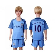 Manchester City Fotbalové oblečení pro děti 16-17 Kun Aguero 10 Domácí dres komplet Manchester City, Vincent Kompany, Kun Aguero, Barista, Justin Bieber, Sports, Tops, Outlet, David