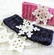 Snowflake Earwarmer - via @Craftsy