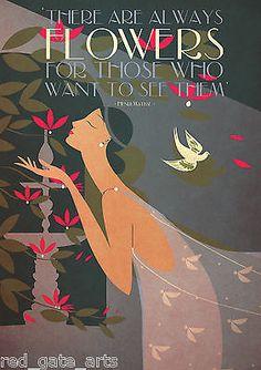 Art-Deco-A3-Matisse-Poster-Print-Bauhaus-Vintage-1920s-Garden-Romantic-Vogue