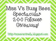 Miss V's Busy Bees: 200 Follower Giveaway & Monday Made It!