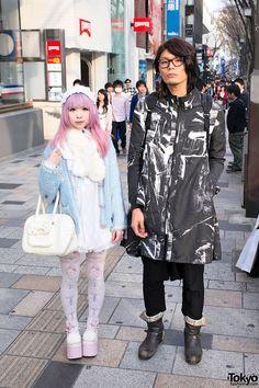 Kawaii Harajuku Fashion & Pink Hair vs. Black & White Style w/ Raf Simons Kawaii vs Cool Fashion in Harajuku – Tokyo Fashion News