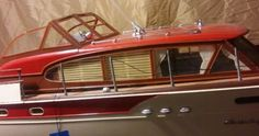 Chris Craft model boat Rc Boot, Cabin Cruiser, Chris Craft, Outboard Motors, Rc Model, Motor Boats, Submarines, Wooden Boats, Model Ships