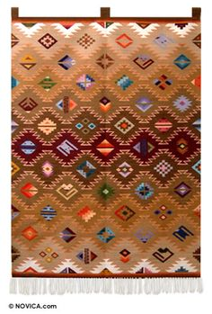 Wool tapestry - Mixed Figures | NOVICA