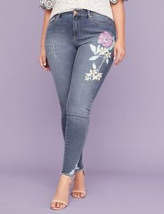0789d747317 Lane Bryant Ultimate Stretch Skinny Jean - Floral Graphic. Lane BryantPlus  Size ...