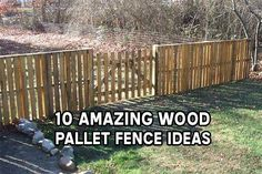 10 Amazing Wood Pallet Fence Ideas