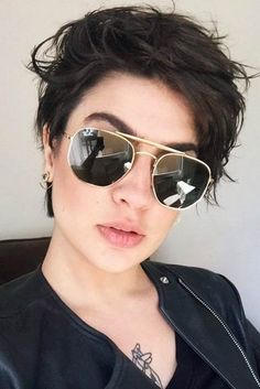 Today we have the most stylish 86 Cute Short Pixie Haircuts. We claim that you have never seen such elegant and eye-catching short hairstyles before. Pixie haircut, of course, offers a lot of options for the hair of the ladies'… Continue Reading → Undercut Hairstyles Women, Latest Short Hairstyles, Short Hairstyles For Thick Hair, Cute Short Haircuts, Trending Hairstyles, Hairstyles With Bangs, Short Hair Cuts, Curly Hair Styles, Pixie Cuts