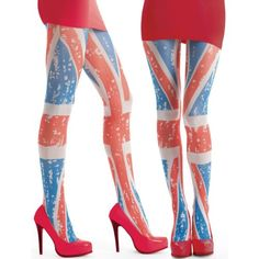 Collants Imprimés, Jolies, Femme, Collants Colorés, Collants Opaques, Union  Jack, 35bf6af8135d