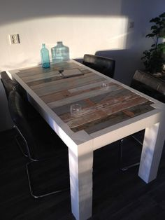 My new handmade scrapwood table!!