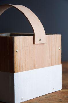 Wood Box + Leather Handle Tutorial