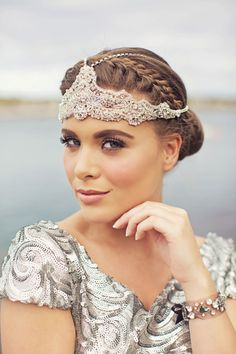 Ophelia  Crystal Lace Bohemian Headchain. by WillowMoone on Etsy, $500.00