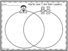 Martin Luther King Jr. Venn Diagram {Freebie}