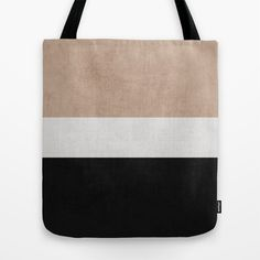 classic - natural, cream and black Tote Bag by Her Art - $22.00