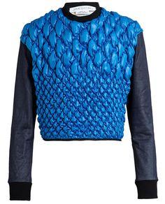 - JAMES LONG.Bubble Nylon Front Cropped Sweatshirt